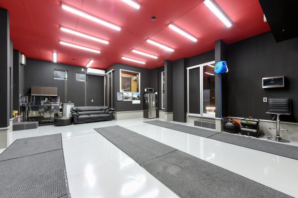 built-in garage space